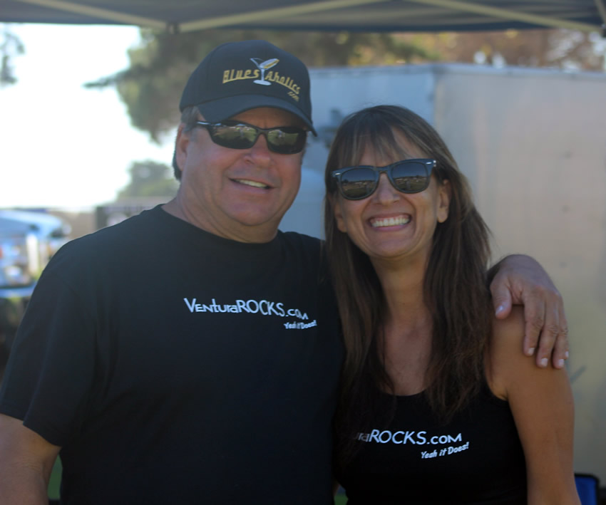 Jonny Reese of Amigos and Pam Baumgardner of VenturaRocks.com