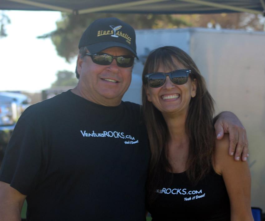 Jonny Reese of Amigos and Pam Baumgardner of VenturaRocks.com