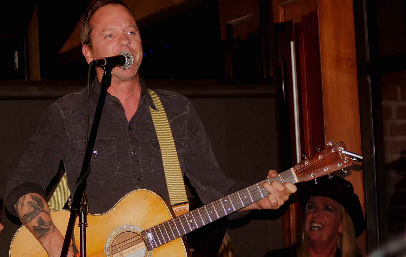 Caption: The Kiefer Sutherland Band at W20 at the Watermark October 23, 2015.