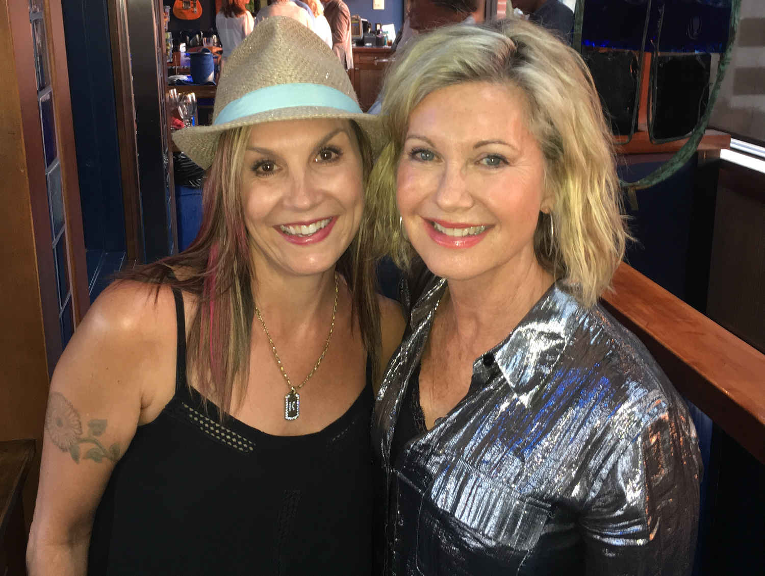 Karen Eden with Olivia Newton-John at W20 at the Watermark, Thursday, August 4, 2016.